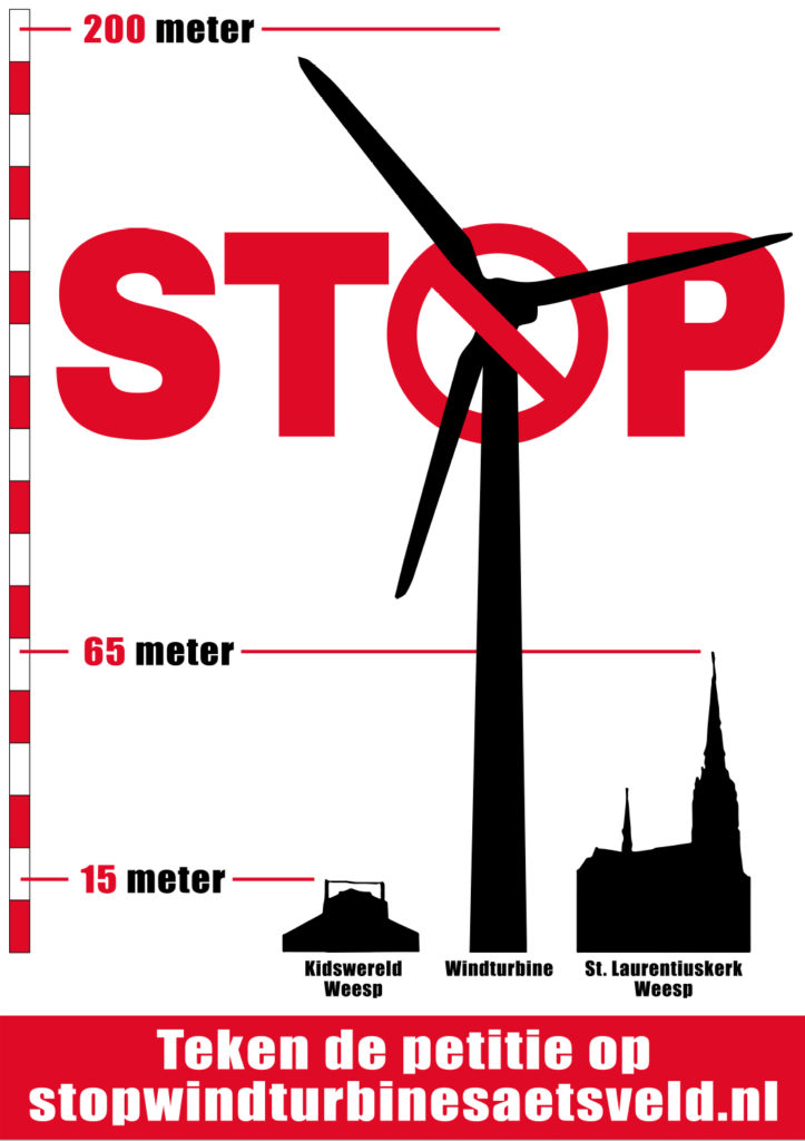 A4 Poster stop windturbines Aetsveld